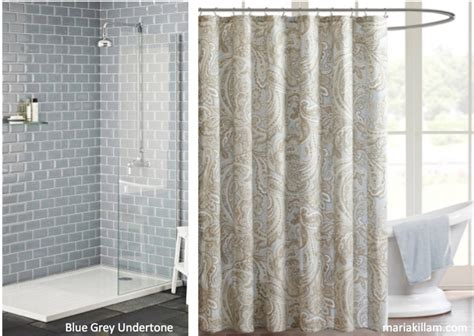 blue and beige shower curtain there are 9 neutral undertones in the world see them here