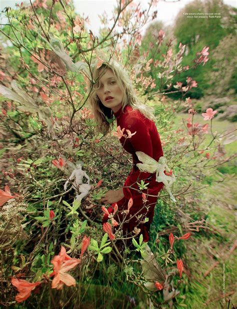 Send Flowers To Kate Moss And Feature In A V Magazine Shoot by Mythical Garden Editorials Model Kate Moss