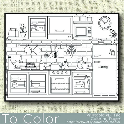 printable coloring pages kitchen printable kitchen coloring page for adults pdf jpg by