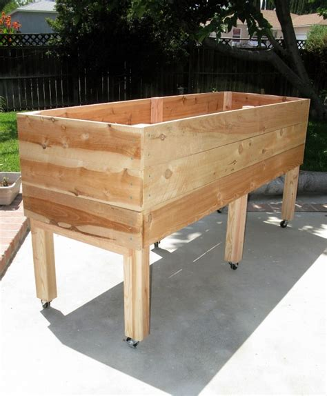 raised planter box plans diy waist high planter box