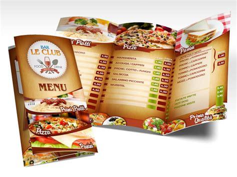 layout per menu ristorante realizzazione grafica brochure aziendale ad arezzo studio