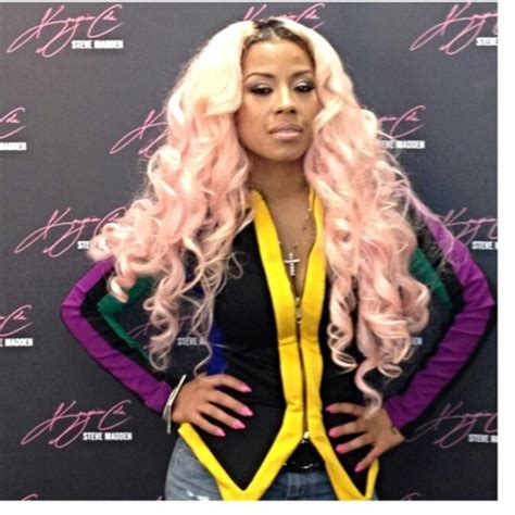 keyshia cole hair color keyshia cole shows new light pink hair color the