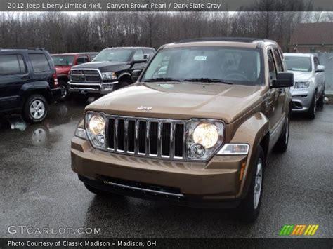 brown jeep liberty canyon brown pearl 2012 jeep liberty limited 4x4 dark