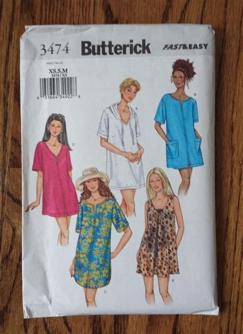 sewing pattern cover up details about women s sewing pattern butterick 3474