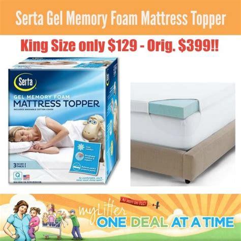 kohls bed toppers kohl s serta king size gel memory foam mattress topper 129 shipped