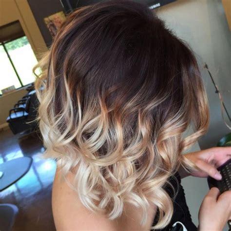 Lässige Kurzhaarfrisuren Damen by Ombre Kurze Haare Locken Stilvolle Frisuren