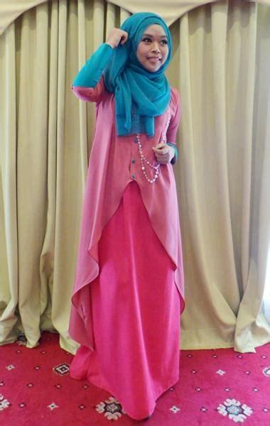 Baju Muslim Syari As trend model busana muslim 2016 warna warna pastel