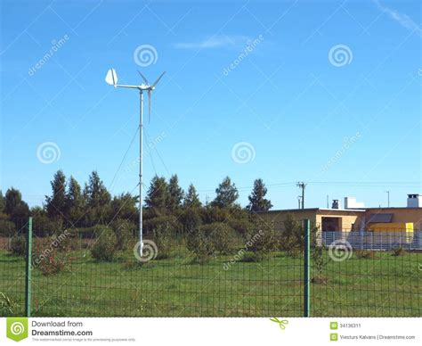 home wind turbine 2 stock image image 34136311
