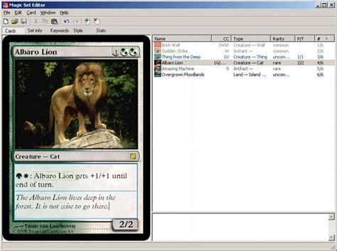 card editor magic set editor sourceforge net