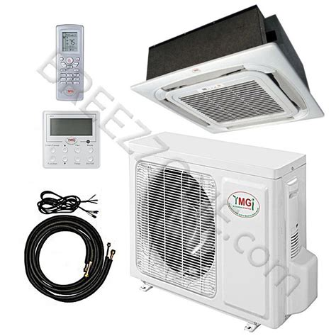 ductless mini split cassette 18000 btu ymgi ceiling cassette mini split air conditioner