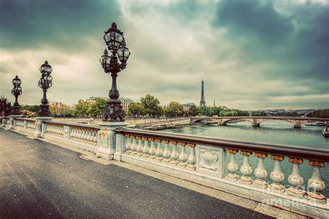 Eiffel Tower Duvet Pont Alexandre Iii Bridge In Paris France Photograph By