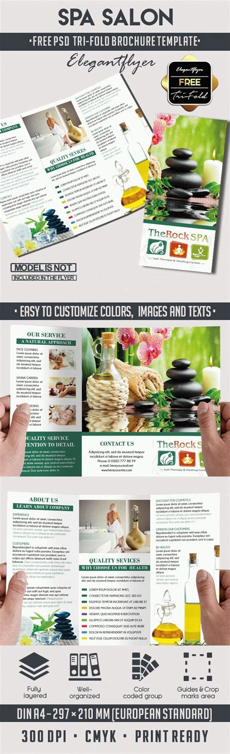 Free Brochure Psd Templates by Spa Free Psd Tri Fold Psd Brochure Template By Elegantflyer