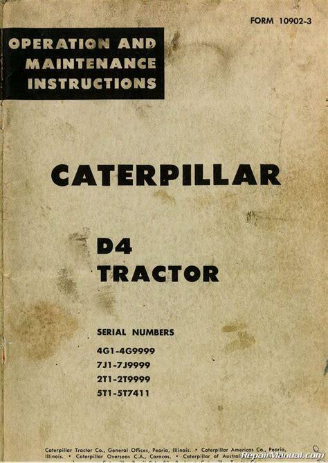caterpillar  tractor operators manual