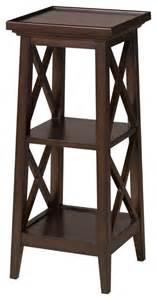 30 inch accent table seneca lake 30 inch pedestal tobacco finish