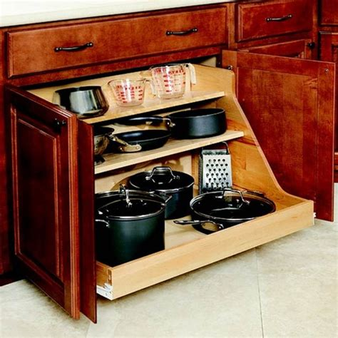 Kitchen Storage Cabinets For Pots And Pans by Bhg Centsational Style