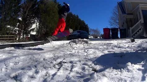 backyard snowboard r backyard snowboarding 2016 youtube