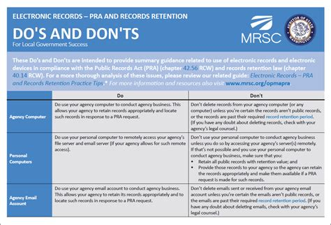 records management policy template mrsc opma and pra practice tips and checklists