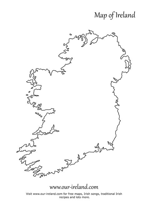 Ie Map Area Outline by Blank Map Ireland Coloring Europe Travel Guides