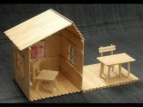 casa con palitos de madera manualidades para ni os manualidades para chicos con palitos de helado 7 youtube