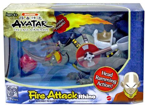 Figure Avatar Attack Rhino Original Mattel avatar the last airbender attack rhino vehicle