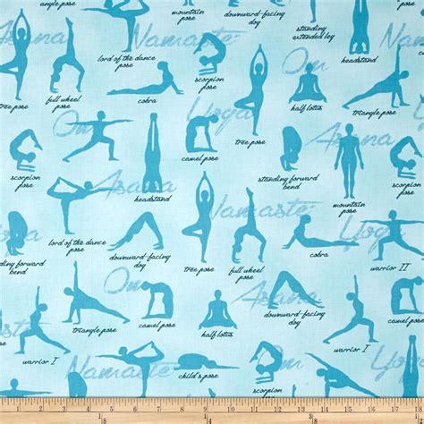 yoga pattern material kaufman sports life yoga positions aqua discount