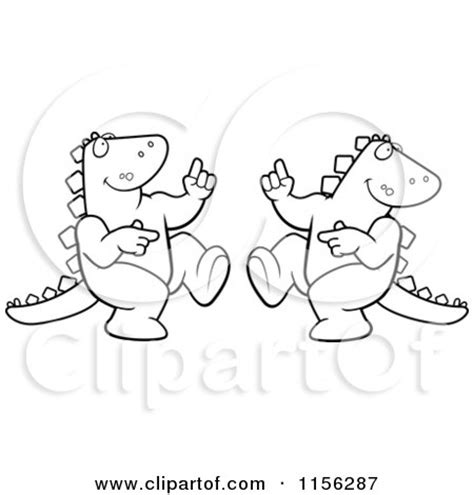 dancing dinosaur coloring page dinosaurs black and white clipart 77