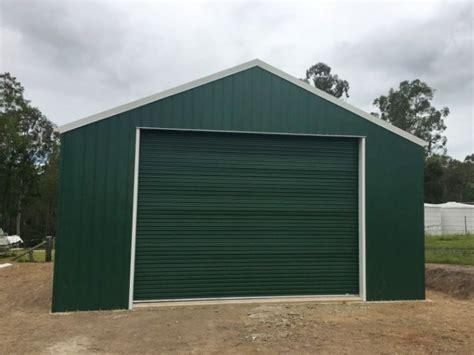 custom green colorbond shed project  work portfolio