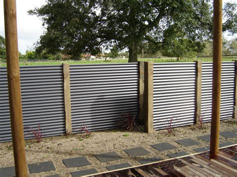 corrugated metal privacy screen less framing screening decorative and privacy pinterest