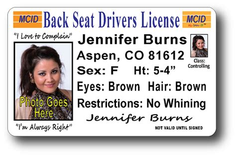 wisconsin drivers license template back seat drivers license