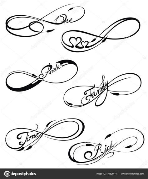 infinite tattoo vector s mbolos del infinito vector del remolino elementos para