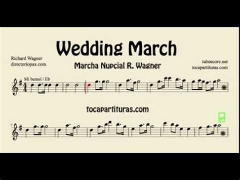 Wedding Song Saxophone by Wedding March Wagner Sheet For Alto Saxophone