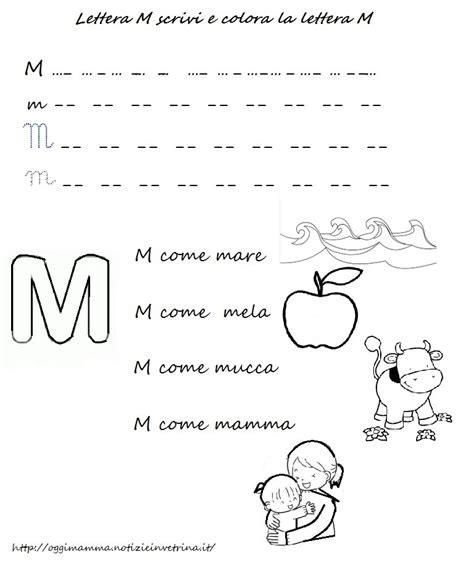 parole con 10 lettere lettera m come mamma e mela scaricare colorare e scrivere