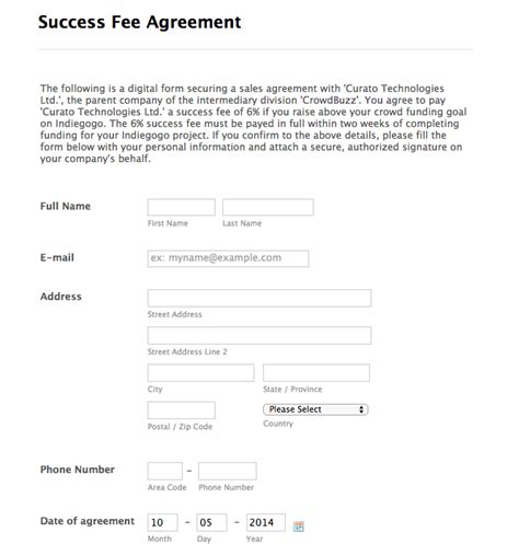 success fee agreement template success fee agreement template kidscareer info