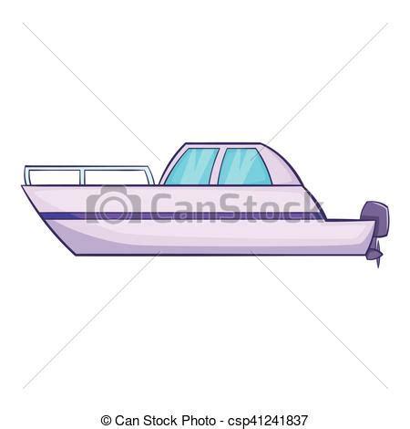 big boat icon big motor boat icon cartoon style big motor boat icon