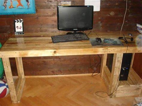 diy pallet computer desk 101 pallets
