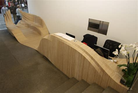 Plywood Reception Desk Trip Inspiration