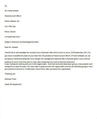 letter of retirement 10 retirement letter sles sle templates
