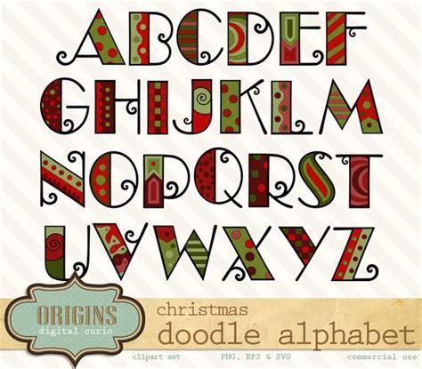 free doodle kid font doodle alphabet clipart objects on creative market