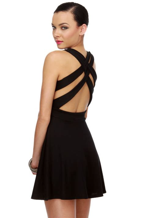 Dress Call Me black dress criss cross back dress 37 00
