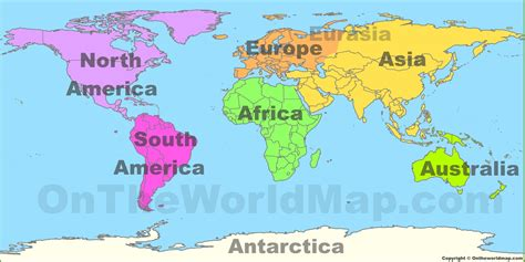on the map image gallery large world maps continents