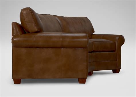 leather conversation sofa bennett conversation leather sofa sofas loveseats