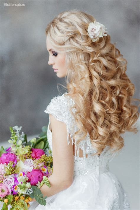 Wedding Hairstyles Half Up With Flowers by Blond Hairstyle For Step By Step
