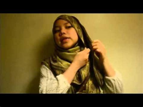 tutorial pashmina labuh depan belakang tutorial hijab paris cara pakai pashmina labuh depan dan
