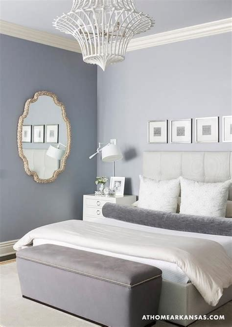 at home in arkansas bedrooms gray room tufted headboard gray upholstered bench white