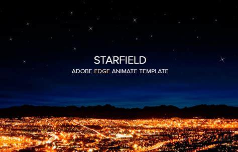 responsive edge animate starfield template  touringxx codecanyon
