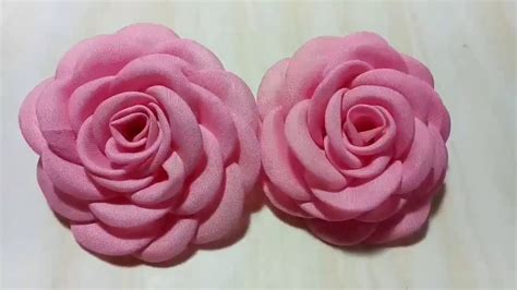 Kain Asahi 58 diy tutorial cara membuat bros bunga mawar kain