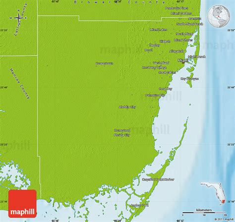 Search Miami Dade County Physical Map Of Miami Dade County