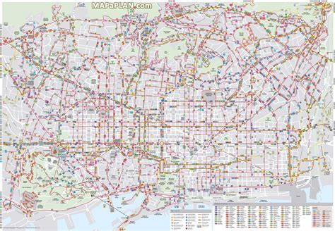 printable maps barcelona barcelona map bus routes stations public transport lines