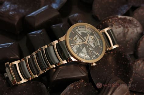 Brown ceramic RADO Centrix Auto Open Heart   hands on review   WatchPaper