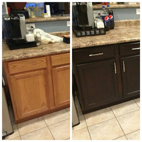 sanding and staining kitchen cabinets diy kitchen cabinet restaining a broken restain laminate